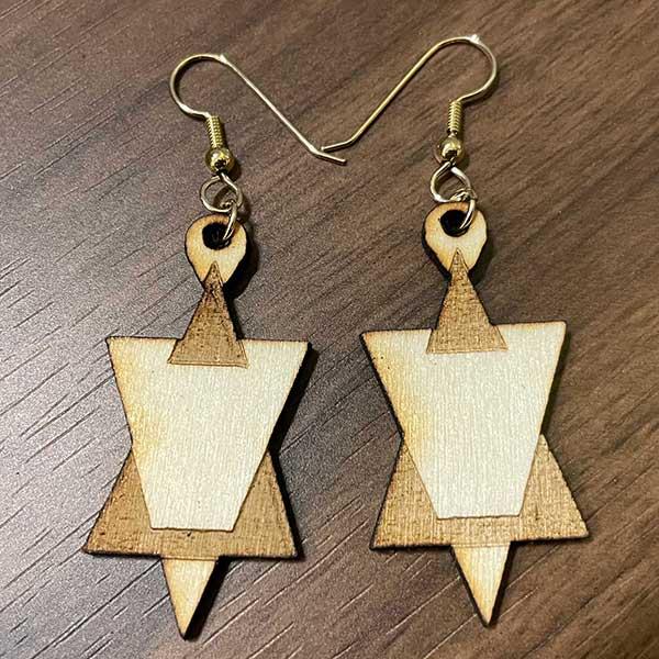 Jewish Star Earrings