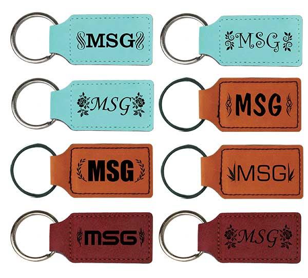 Customized Monogram Keychains